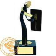 Figura de diseño en latón - Electricista
