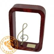 Figura de diseño en resina y latón - Música