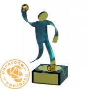 Brass design figure - Handball