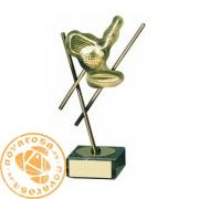 Trofeo de diseño en latón