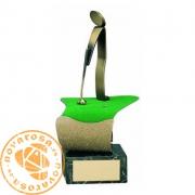 Figura de diseño en latón - Golf