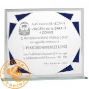 Economic glass design plate