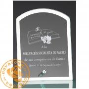 Placa de homenaje de diseño en cristal económico