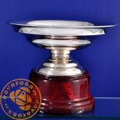 Silver plated jewelry cup