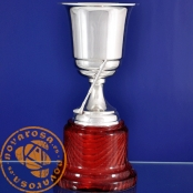 Silver plated jewelry cup - Golf