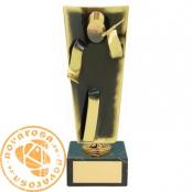 Brass design figure - Singer/Karaoke
