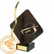 Brass design figure - American Football/Rugby