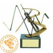 Brass design figure - Mountaineering