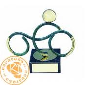 Brass design figure - Motorcycling