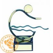Figura de diseño en latón - Natación