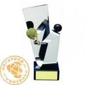 Brass design figure - Paddle