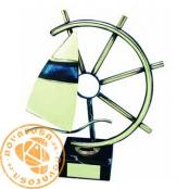 Brass design figure - Sailing