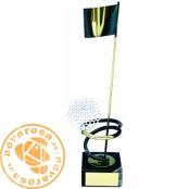 Brass design figure - Golf