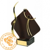 Brass design figure - Volleyball