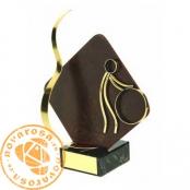 Brass design figure - Cycling