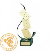 Brass design figure - Dominoes