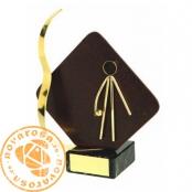 Brass design figure - Basque Pelote (Hand)