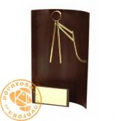 Brass design figure - Hockey