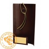 Brass design figure - Soccer Goalkeeper