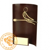 Brass design figure - Rowing