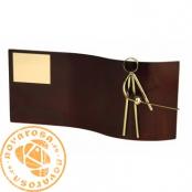 Brass design figure - Fencing