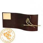 Brass design figure - Canoeing