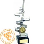 Brass design trophy