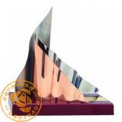 Brass design trophy