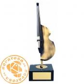 Brass design figure - Music
