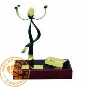 Brass design figure - Aerobics