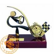 Brass design figure - Motoring