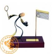 Figura de diseño en latón - Badminton