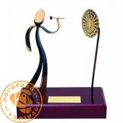 Brass design figure - Darts