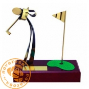Brass design figure - Golf