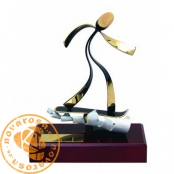 Brass design figure - Snowboard