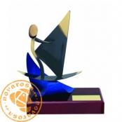 Brass design figure - Windsurfing