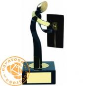 Brass design figure - Electrician