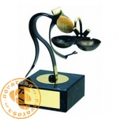 Brass design figure - Plumber