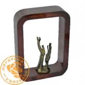 Brass and resing design figure - Allegoric