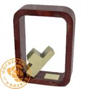 Figura de diseño en resina y latón - Tetris