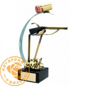 Brass design figure - Hunting