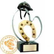 Brass design figure - Horse Riding