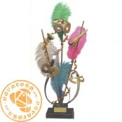 Figura de diseño en latón - Carnaval