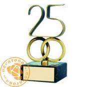 Brass design figure - Anniversary