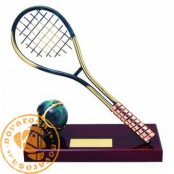 Brass design figure - Tennis