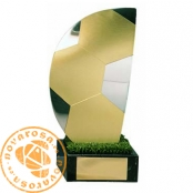 Brass design figure - Soccer