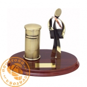 Brass design figure - Postman