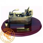 Brass design figure - Office