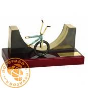 Brass design figure - XByke Half Pipe