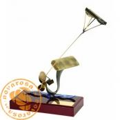 Brass design figure - Kitesurf